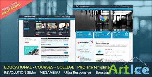 ThemeForest - EDU - Educational, Courses, College with Megamenu - RIP