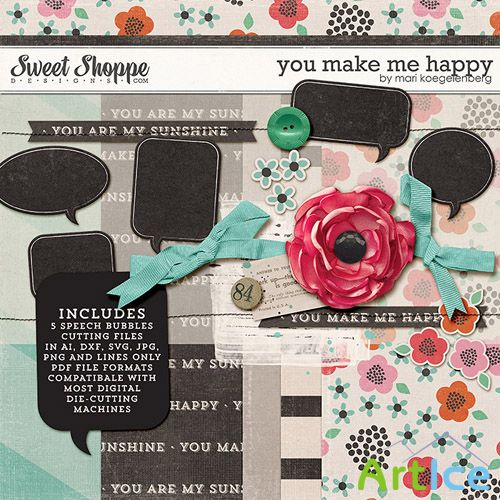 Scrap Set - You Make me Happy PNG and JPG Files