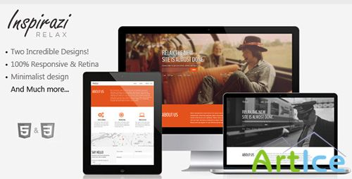 ThemeForest - Relax - Responsive & Minimal Coming Soon Theme - RIP