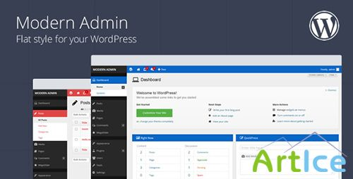 CodeCanyon - Modern Admin v1.6 - Flat style for your WordPress