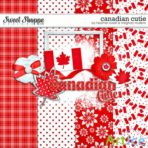 Scrap Set - Canadian Cutie PNG and JPG Files