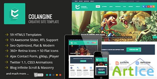 ThemeForest - Colangine - Creative Flat HTML5 Template - RIP