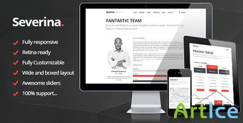 ThemeForest - Severina - Responsive Multi-Purpose HTML Template - RIP