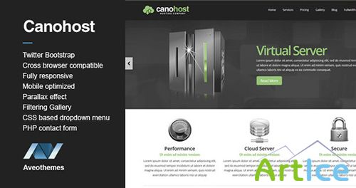 ThemeForest - CanoHost - Responsive Hosting & Business Theme - RIP
