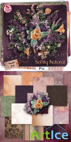 Scrap Set - Softly Natural PNG and JPG Files