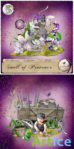 Scrap Set - Smell of Provence PNG and JPG Files