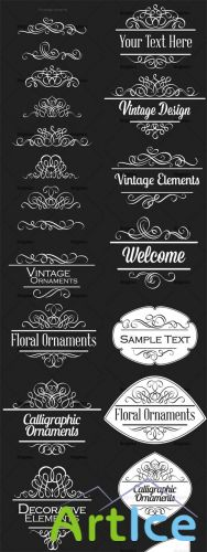 Ornamental Floral Vector Pack 156
