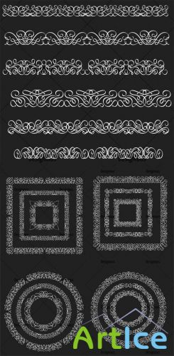 Ornamental Floral Vector Pack 155
