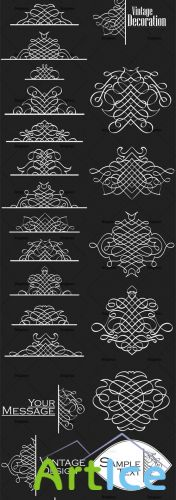 Ornamental Floral Vector Pack 157