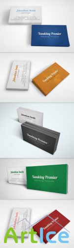 Subtle Splatter Business Card PSD Template