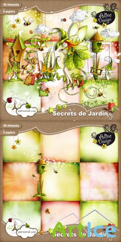 Scrap Set - Secrets de Jardin PNG and JPG Files