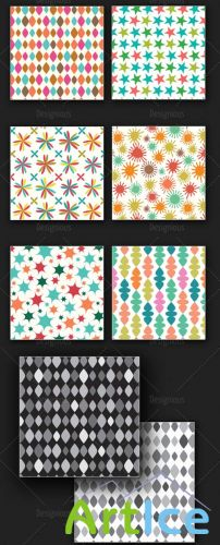 Seamless Patterns Vector Pack 167