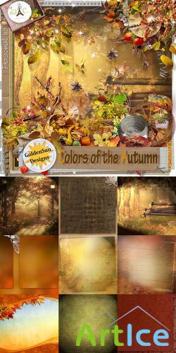 Scrap Set - Colors of the Autumn PNG and JPG Files