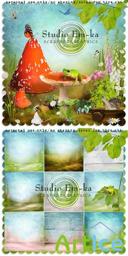 Scrap Set - Sunny Meadow PNG and JPG Files