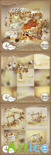 Scrap Set - Cookies For You PNG and JPG Files