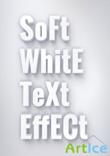 PSD Source - Soft White Text Effect