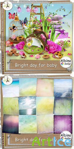 Scrap Set - Bright day For Baby PNG and JPG Files