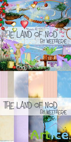 Scrap Set - The Land of Nod PNG and JPG Files