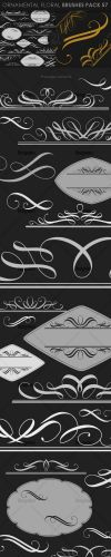 Ornamental Floral Photoshop Brushes Pack 57
