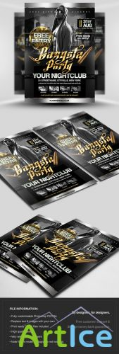 Gangsta Party Flyer/Poster PSD Template