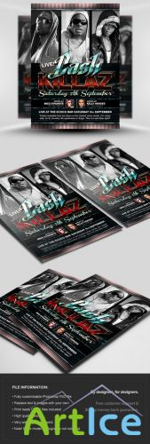 Cash Killaz Flyer/Poster PSD Template