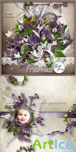 Scrap Kit - Freshness PNG and JPG Files