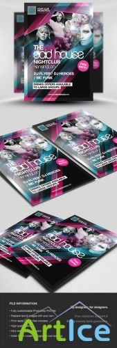 The Acid House Flyer/Poster PSD Template