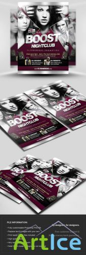 Maximum Boost Flyer/Poster PSD Template