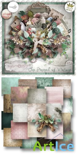 Scrap Set - One Pinched of Vintage PNG and JPG Files