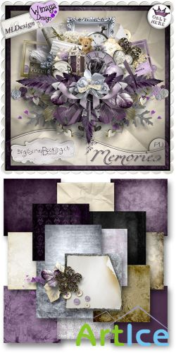 Scrap Set - Memories PNG and JPG Files
