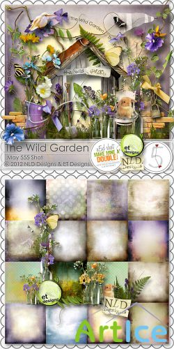 Scrap Set - The Wild Garden PNG and JPG Files