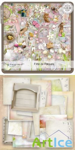 Scrap Set - Fete de Paques PNG and JPG Files