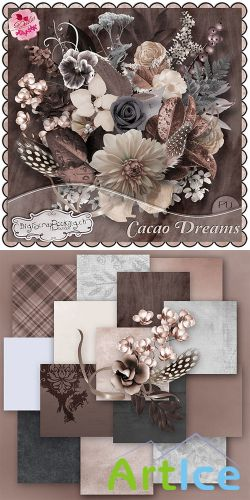 Scrap Set - Cacao Dreams PNG and JPG Files