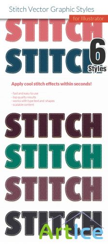 Designtnt - Stitch Effect Vintage Style for Illustrator