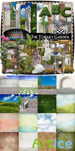 Scrap Set - The Topiary Garden PNG and JPG Files