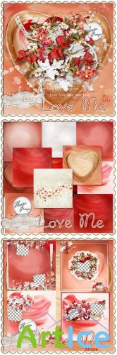 Scrap Set - Love Me PNG and JPG Files