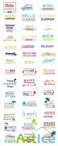 Summer Vector Elements Set 1
