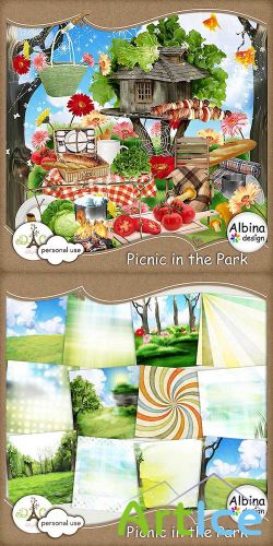 Scrap Set - Picnic in the Park PNG and JPG Files