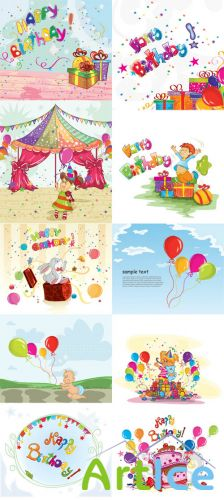 Kids Vector Illystrations Set 1