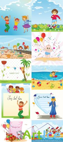 Kids Vector Illystrations Set 5