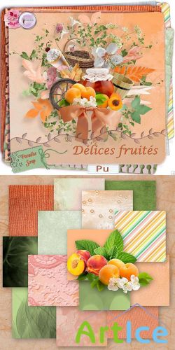 Scrap Set - Delices Fruites PNG and JPG Files