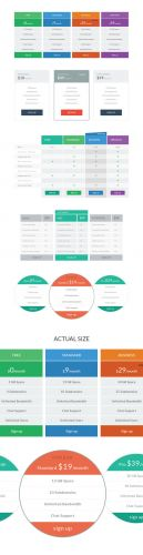 Flat Plans and Pricing Tables PSD Template