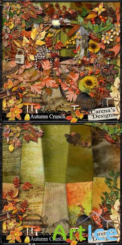 Scrap Set - Autumn Crunch PNG and JPG Files