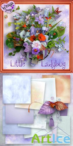 Scrap Set - Little Ladybug PNG and JPG Files