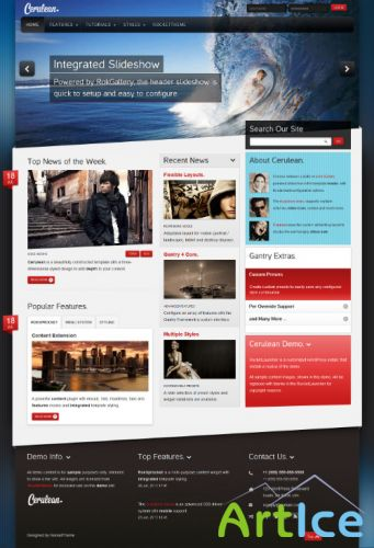 RocketTheme - RT Cerulean v1.0 - Template for WordPress 3.x