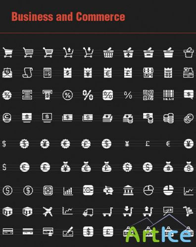 90 Business and Commerce Vector Icons