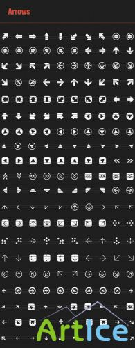 200 Vector Arrows Icons
