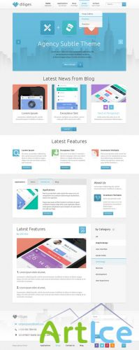 Pixeden - Diliges Agency Psd Web Template