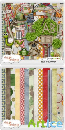 Scrap Set - Boys of Summer PNg and JPG Files