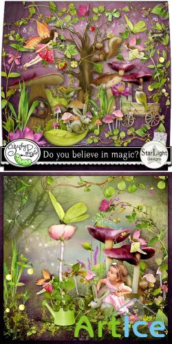 Scrap Set - Do you Believe in Magic PNG and JPG Files